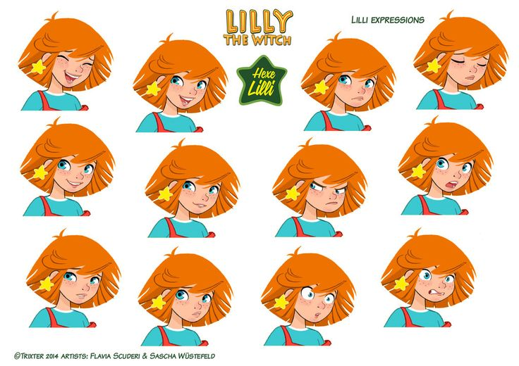 Hexe Lilli the Witch expressions2 by Skudo.deviantart.com on @DeviantArt