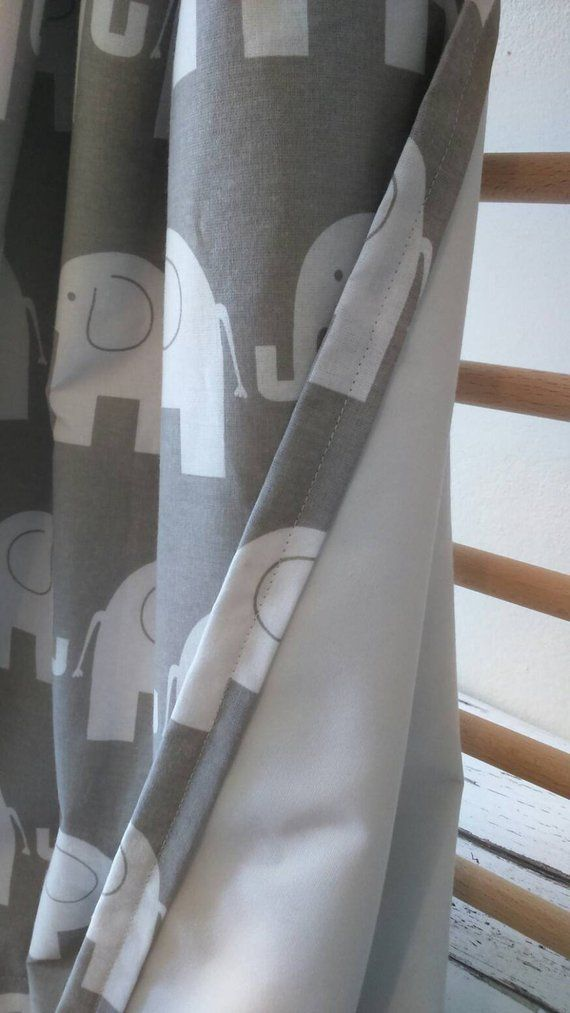 Elefant Vorhange Kinderzimmer Gardinen Baby Zimmer Vorhange Etsy