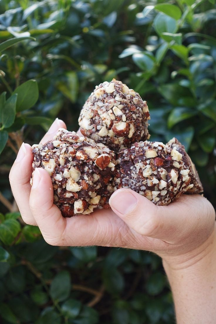 An irresistible combination of chocolate and hazelnut, these little balls  are healthier, vegan versions of a traditional Ferrero Rocher. Crunchy  nuts, thick chocolate, and a fudgy interior - the perfect combination!