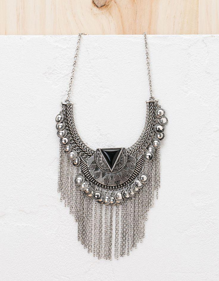 Fringed bohemian necklace - Accessories - Bershka United Kingdom