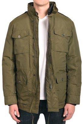 """Valentino Men Hooded Parka Jacket Green """"v"""" Checker Pattern."""