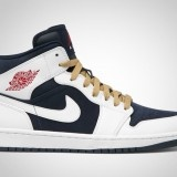 air-jordan-1-phat-olympic-02: Phat Whiteobsidiangym, Nike Air Jordans, Whiteobsidiangym Red, Obsidian Gym, Olympics Usa, Jordans Sports, Air Jordans 1 Phat Olympics, Sneakers, Red White