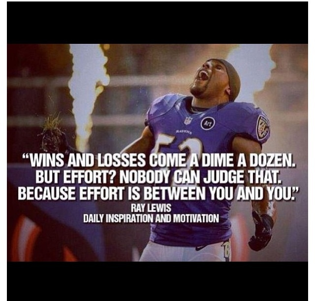 Ray LewisRay Lewis Greatness Quote