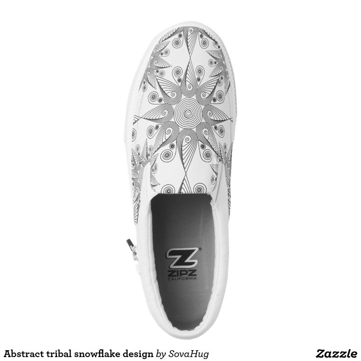 Abstract tribal snowflake design printed shoes