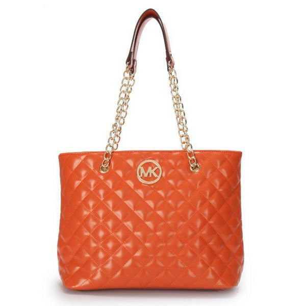 Cheap Michael Kors Quilted Large Orange Shoulder Bags Clearance