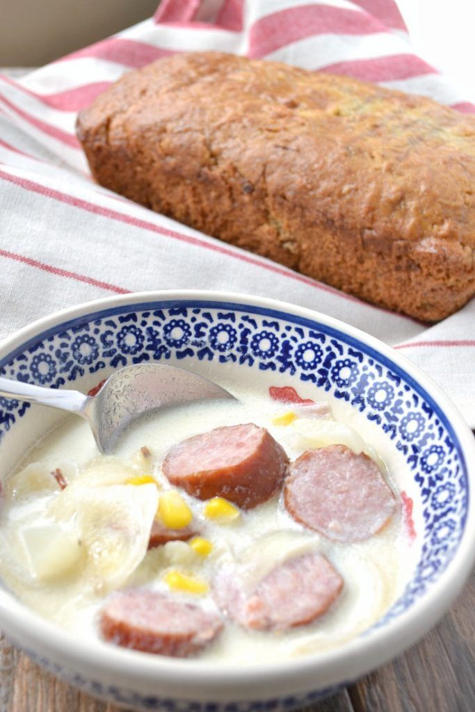 Simple and delicious sausage soup for busy nights - this soup comes together quickly and is a crowd-pleaser! #recipe #recipeoftheday #dinner #dinnerrecipes #dinnertime #lunch