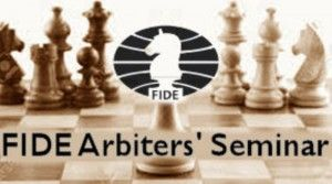 Curso de Arbitragem para Norma de AF e AN FIDE Arbiters Seminar  Local: Espaço Xadrez Total Rua Machado de Assis 702. Vila Mariana. São Paulo-SP.  Datas: 6 a 10 de fevereiro de 2016 – Carnaval