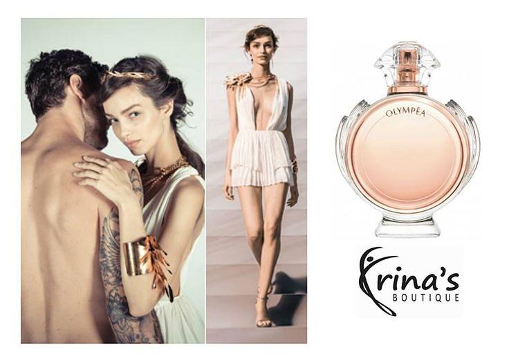 La Irina's Boutique gasesti parfumul Olympea by Paco Rabanne, varianta feminina a parfumului Invictus! Notele de mandarina verde, iasomie de apa si floare de ghimbir, vor incanta si cele mai fine simturi masculine!  Te asteptam sa il incerci in magazinul nostru: Str. Mihai Eminescu, nr.17! #irinasboutique #parfum #olympea #pacorabanne