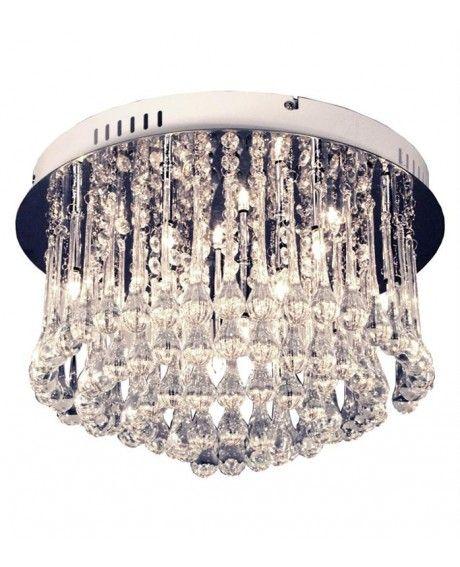 Aneta Adele on lumoavan kaunis kattoplafondi, jossa upeasta kromirungosta riippuu arvokkuutta henkivät lasiprismat. Aneta Adele kattoplafondi viimeistelee sisustuksen näyttävästi.