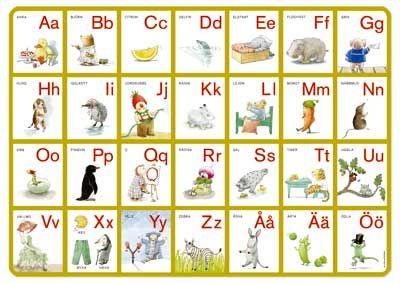 Perfekt att ha underlägg med alfabetet på skrivbordet.