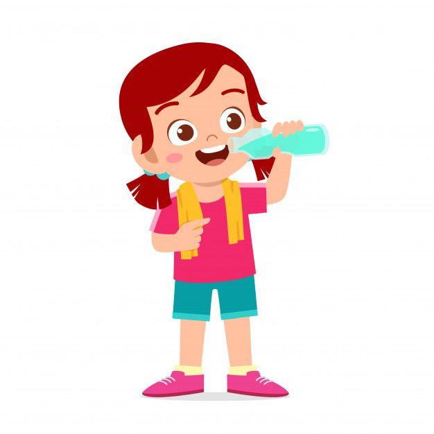 Feliz Nino Lindo Nina Beber Agua Despues Premium Vector Freepik Vector Agua Imagenes Animadas De Ninos Dibujo De Ninos Jugando Rutina Diaria De Ninos