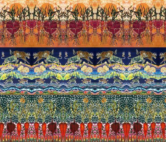 Filled With Sunlight fabric from original batik Garden batik