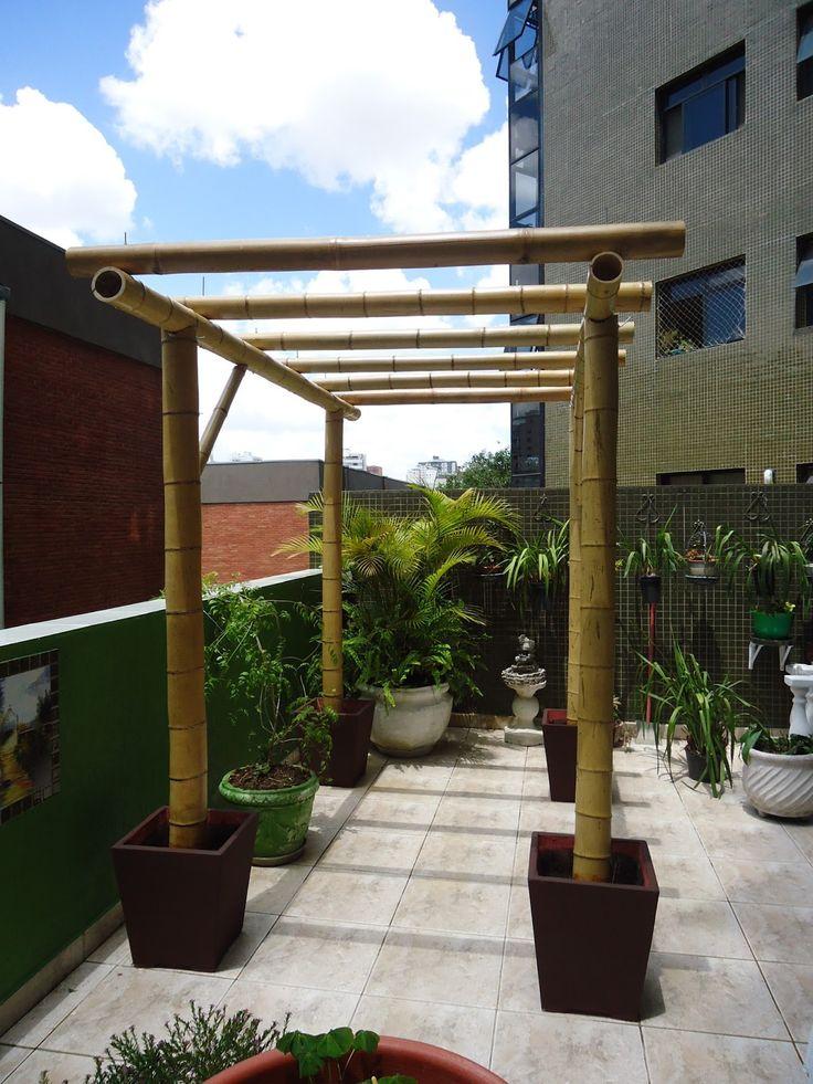 como fazer um pergolado de bambu - Pesquisa Google