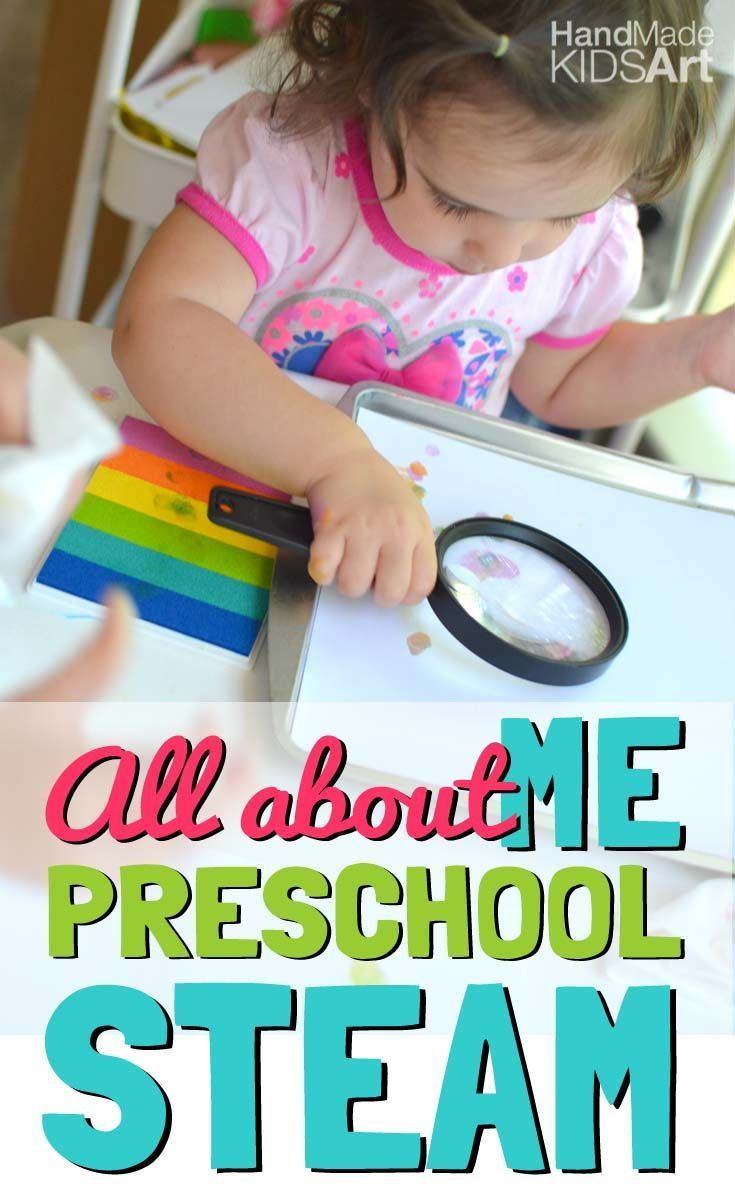 "Preschool Science Activity ""All About Me"" Observe your unique fingerprint while learning how to use science tools."