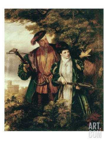Henry VIII and Anne Boleyn Deer Shooting in Windsor Forest Art Print by William Powell Frith at Art.com