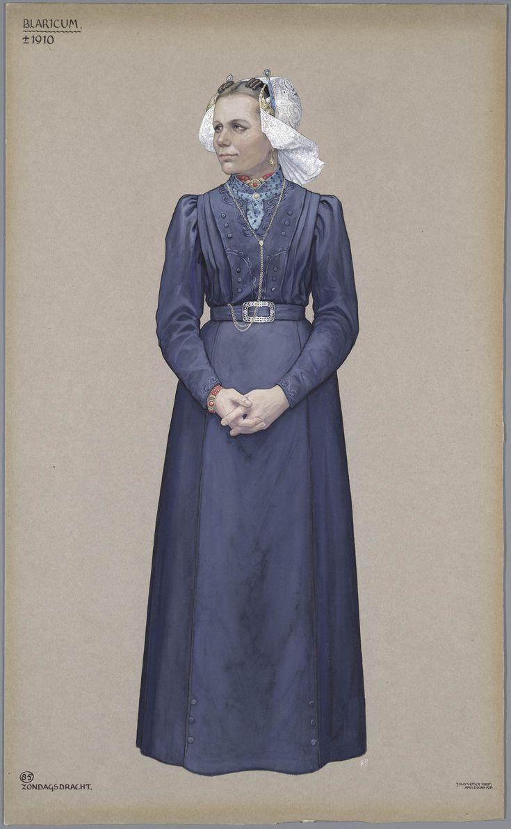 Blaricum, ca. 1910. Zondagsdracht.