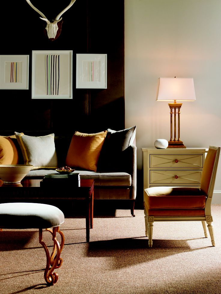 Upholstered Headboards Suzanne Kasler. See More. Southworth Sofa, Ainsley  Chair, Knollwood Chest, Isabel Ottoman And Slaton Coffee Table With