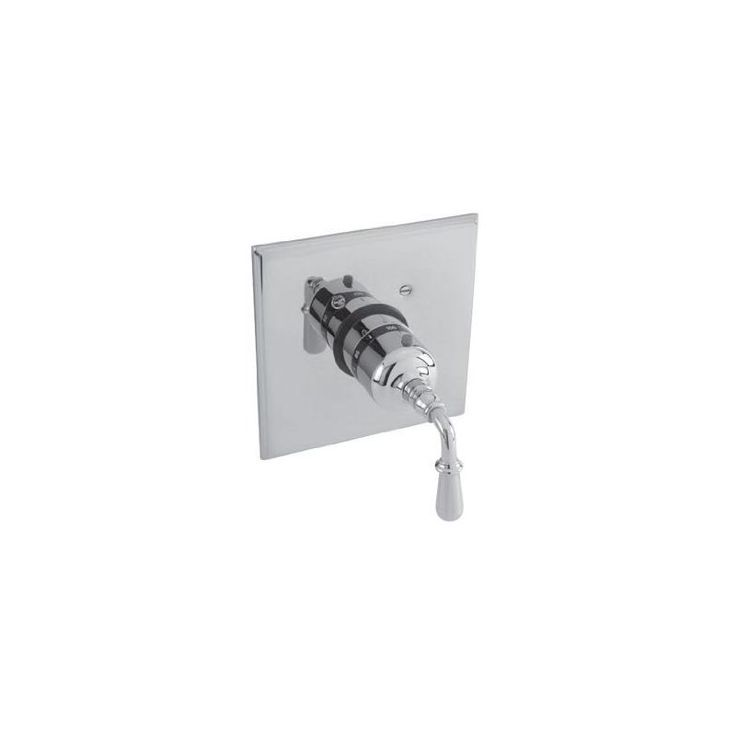 Newport Brass 3-1744TS Bevelle Collection Single Handle Square Thermostatic Valv Polished Nickel Showers Digital Shower Controls Single Handle