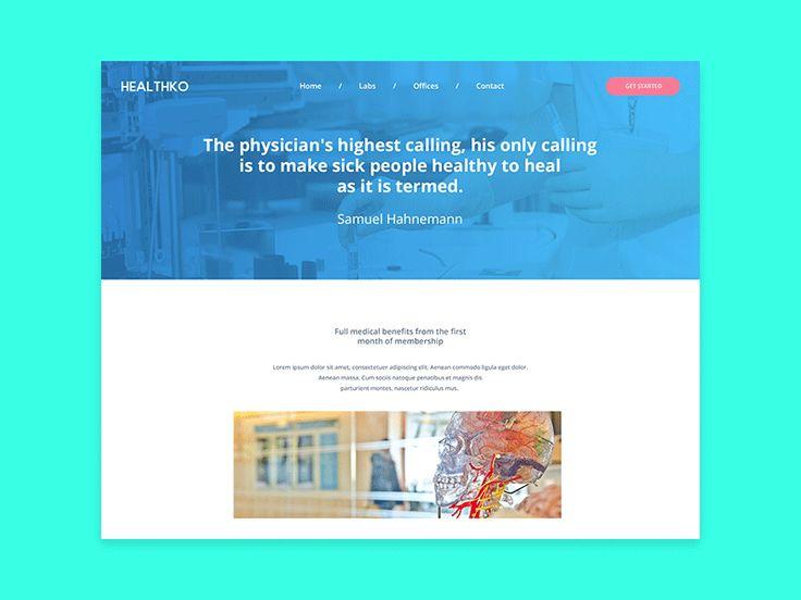 Doctor's Website UI