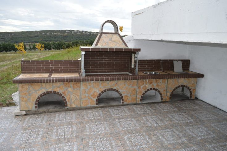garden - grill - brick - sxistolithos