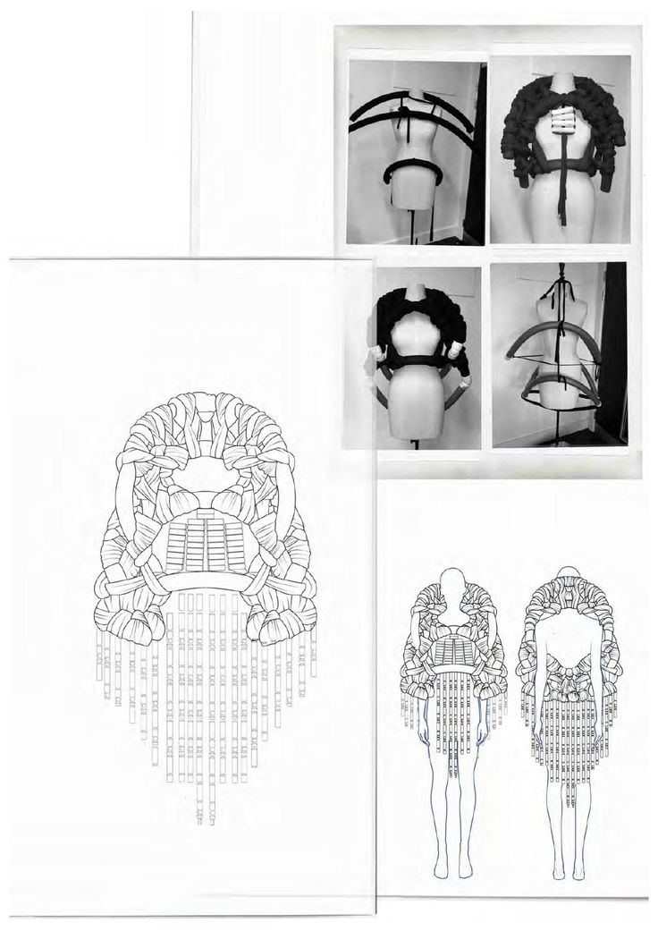 Fashion Sketchbook - knitwear design development, fashion drawings // Philli Wood Portfolio (Sculptural, contruction, framed)