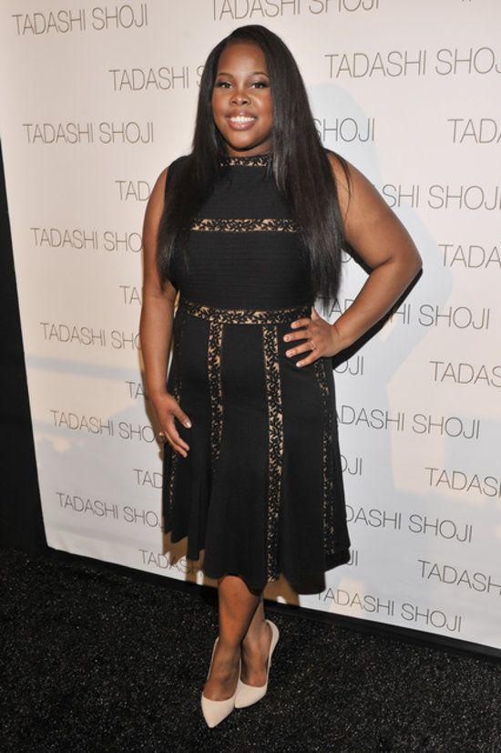 Glee's Amber Riley attended the Tadashi Shoji show on Thursday.