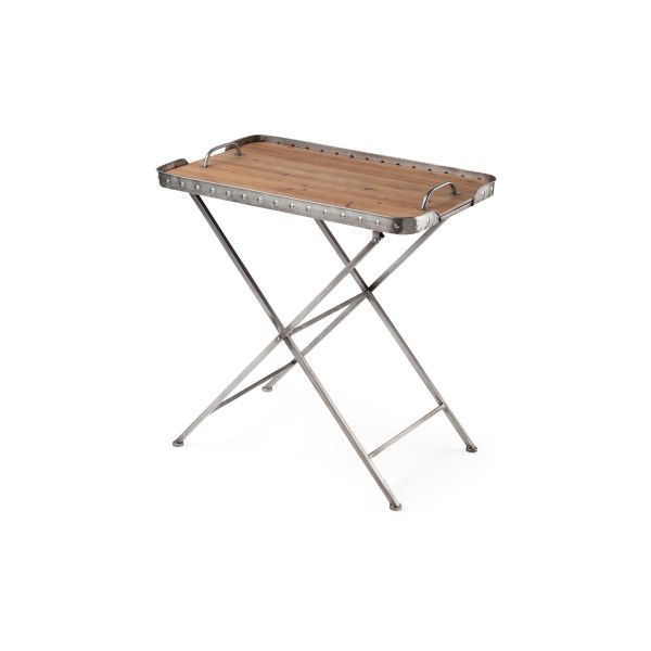 Removable Tray Folding Table ($70) ❤ Liked On Polyvore Featuring Home,  Furniture,