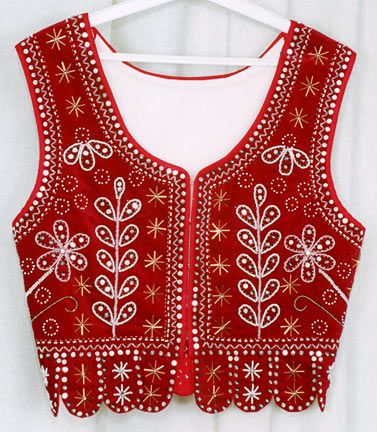 Traditional folk woman waist coat from region Swietokrzyskie in Poland