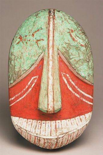 Masque sugpiat, s.d., Boulogne-sur-Mer, Château-Musée, © Philippe Beurtheret Collection Alphonse Pinart