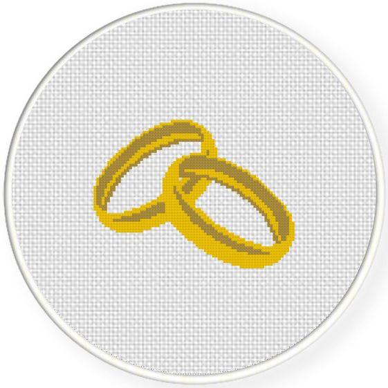 FREE Wedding Ring Cross Stitch Pattern
