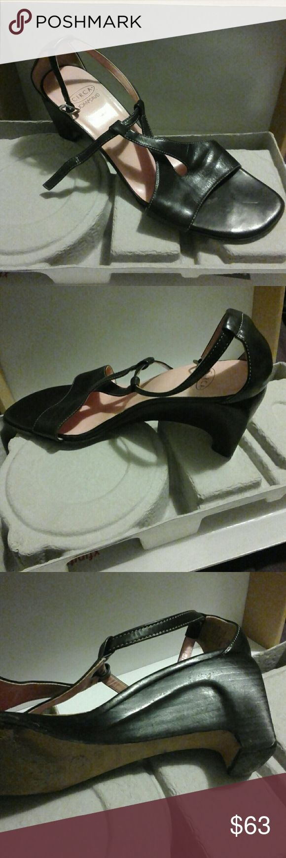 Circa Joan & David open shoes size 8M Very good condition, some wear and tear circa Joan & David Shoes Flats & Loafers