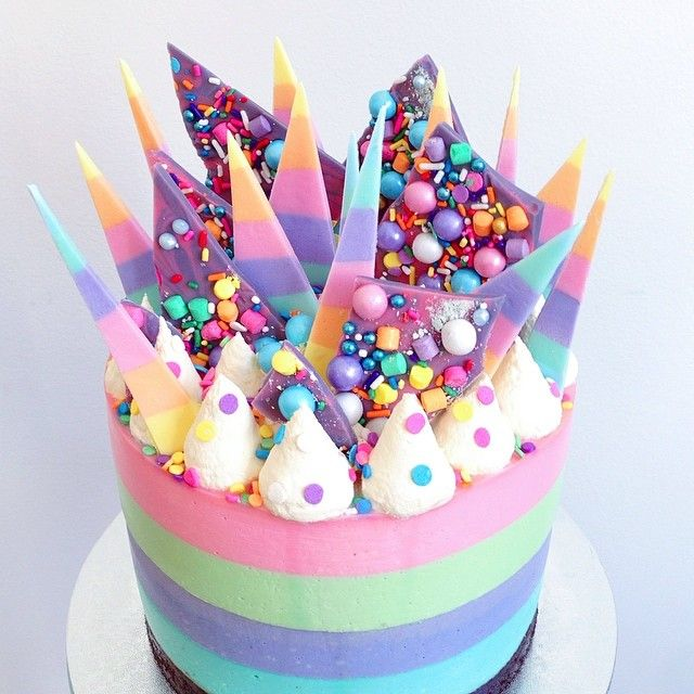 This is a fun cake for anyone! Can change up the colors and candy on top based on personal preference!