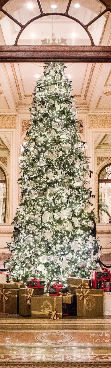 Christmas Tree at the Plaza Hotel NYC | LOLO