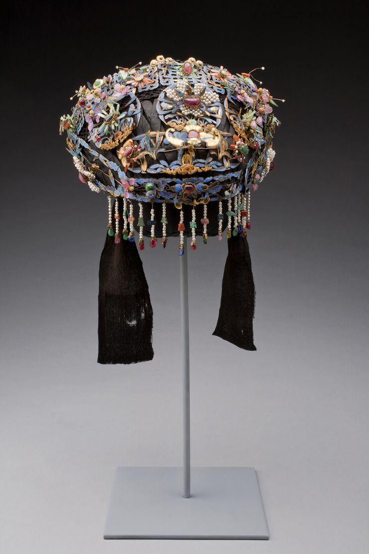China | Wedding Bonnet | Late 1800s, Qing dynasty