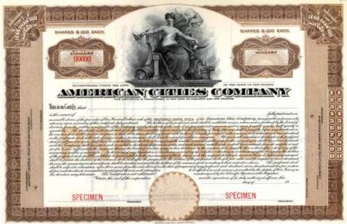 A Preferred stock certificate