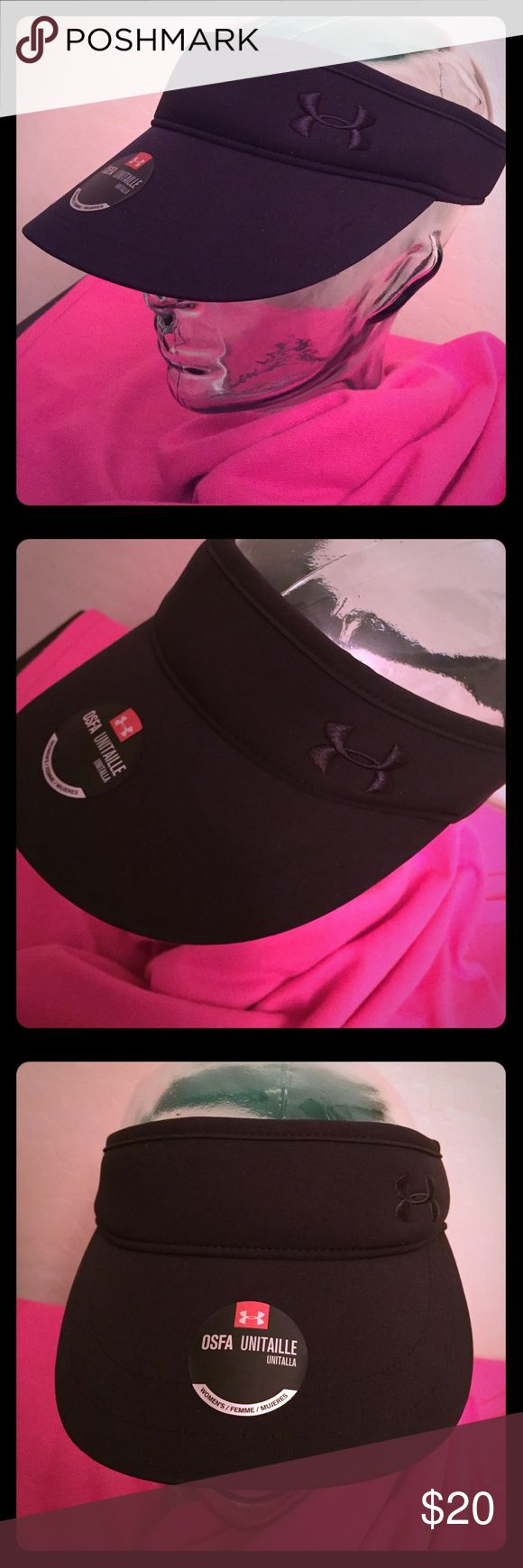 🆕 Under Armour Storm1 Women's Visor Authentic Under Armour Storm1 Women's Visor. OS. Black. UA Logo on the Left Side. Adjustable Back. Water-Resistant. UPF 30. 90% Polyester/10% Elastane. Brand New. Excellent Condition. No Trades. Check out the Other Cool Visors in My Closet.👌🏽 Under Armour Accessories Hats