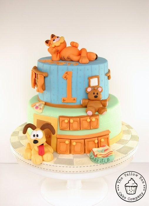 Garfield cake found on cakes decor