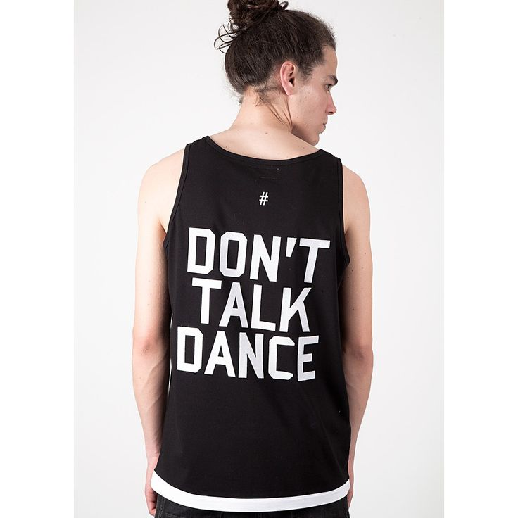 Standard fitting vest with 'DONT TALK DANCE' flock printed on the back. Flock print is felt to the touch and provides a premium quality finish. With a contrast white hem and branded satin label constructed from a lightweight material ideal for the summer. | Shop this product here: spree.to/apm2 | Shop all of our products at http://spreesy.com/blessingsandbeauty    | Pinterest selling powered by Spreesy.com