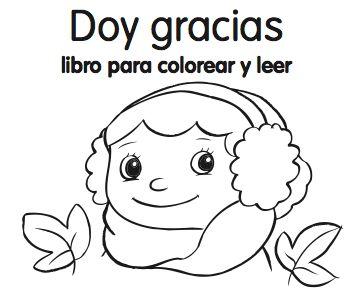Doy gracias - libro para colorear y leer