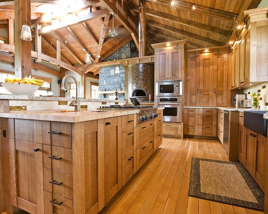 Best Quarter Sawn White Oak Rustic Kitchen Pinterest 400 x 300
