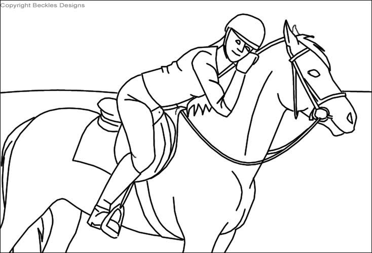 horse jumping coloring pages - photo#29