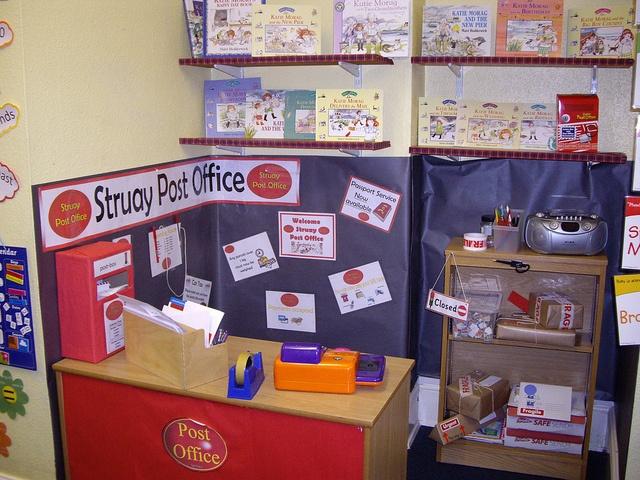 post office! cute idea to teach life skills!