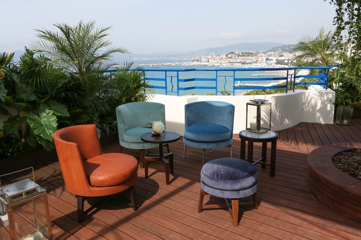 FLEXFORM FEEL GOOD ARMCHAIRS AND OTTOMANS, designed by Antonio Citterio furnish the exclusive ‪#‎ChopardRooftop‬ at the Hotel Martinez during the Festival de Cannes 2015.