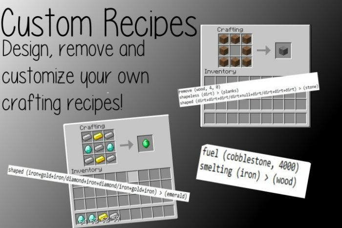 Custom Recipes Mod for Minecraft 1.8.8/1.7.10 | Custom ...