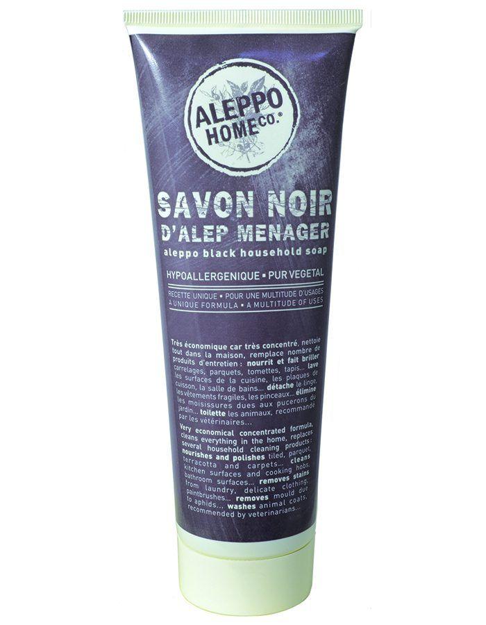 Aleppo zwarte zeep voor huidhoudelijke gebruik - multireiniger