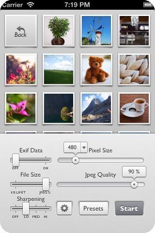 Reduce Die App Reduce ist vor allem für Blogger, Journalisten oder Hobbyfotografen ein interessantes Tool, die gemachte Fotos direkt auf dem iPhone für das Web optimieren oder mit geänderten Bildinformationen sichern möchten. Dabei geht es nicht darum ein Bild zu bearbeiten, man definiert mit Reduce lediglich die Größe und Auflösung der zu speichernden Datei. AppGuide | Die besten iPhone Apps