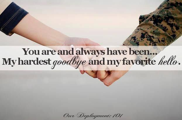❤ And support to all the girls who've loved a military man..,