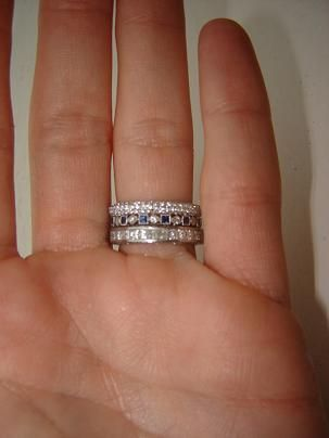diamond rings cut gold white band on carat anniversary and bands cheap princess wedding