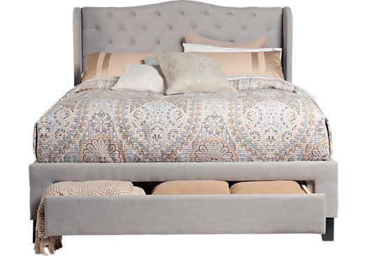 Shop for a Cali Gray 3 Pc King Storage Bed at Rooms To Go. Find Beds that will look great in your home and complement the rest of your furniture. #iSofa #roomstogo
