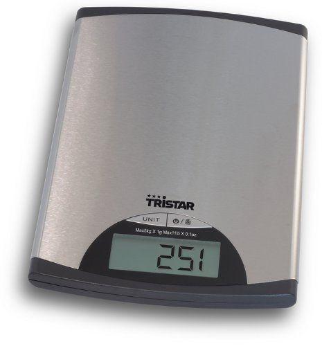 Tristar KW-2435 - Báscula de cocina con panel de control digital